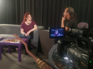 Amy Mills being interviewed by Gregory Parks on CON-Link